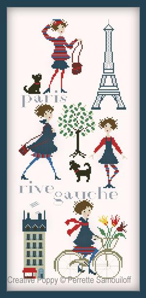 Paris Rive Gauche cross stitch pattern by Perrette Samouiloff