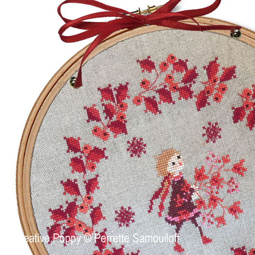 Christmas Wreaths patterns to cross stitch