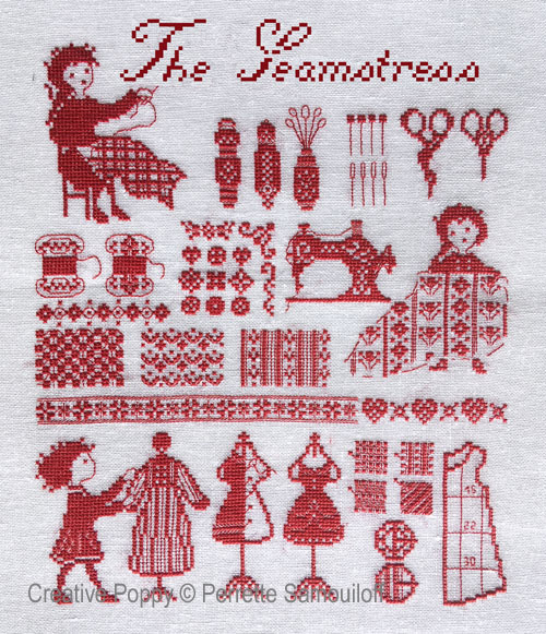 The Seamstress cross stitch pattern by Perrette Samouiloff