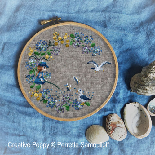 Seaside Wreath cross stitch pattern by Perette Samouiloff