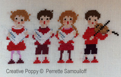 The Carol Singers cross stitch pattern by Perrette Samouiloff
