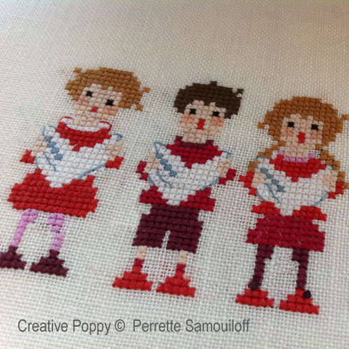Perrette Samouiloff The Carol Singers Cross Stitch Pattern