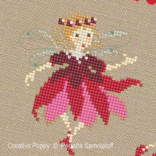 Christmas Fairies cross stitch pattern by Perrette Samouiloff, zoom 1