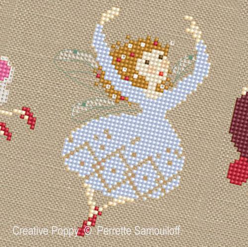 Perrette Samouiloff Tiny Christmas Fairies Cross Stitch