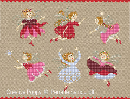 Christmas Fairies cross stitch pattern by Perrette Samouiloff