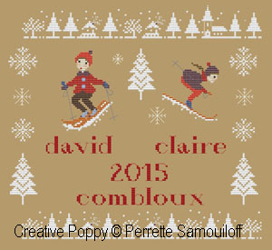 My First Ski Holiday cross stitch pattern by Perrette Samouiloff