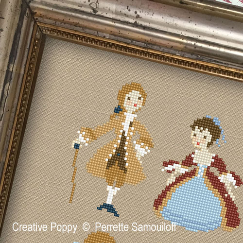 Fashion and Costume cross stitch patterns designed by <b>Perrette Samouiloff</b>