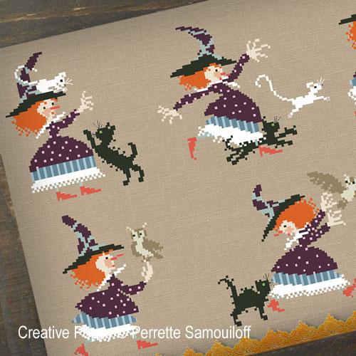 A Witch's Struggle cross stitch pattern by Perrette Samouiloff
