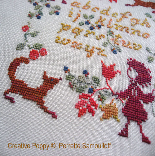 Child and Fox ABC - cross stitch pattern - by Perrette Samouiloff (zoom 1)
