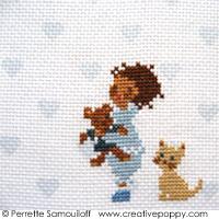 Sweet dreams - cross stitch pattern - by Perrette Samouiloff (zoom 1)