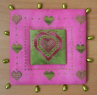 Spring pinkeep - cross stitch pattern - by Tom & Lily