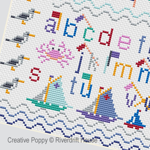 Riverdrift House - Ahoy! (cross stitch chart)