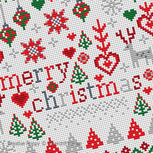 Riverdrift House - Little Merry Christmas zoom 1 (cross stitch chart)