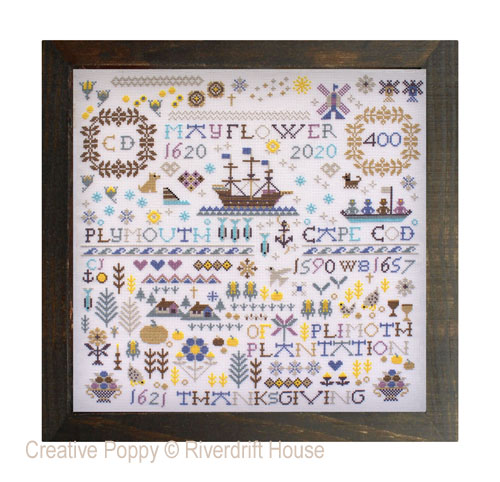 Mayflower 400 cross stitch pattern by Riverdrift House