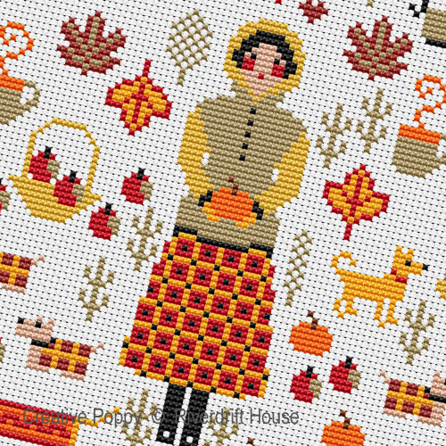 Mini Autumn Sampler cross stitch pattern by Riverdrift House