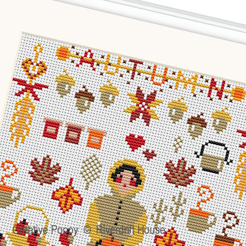Mini Autumn Sampler cross stitch pattern by Riverdrift House, zoom 1