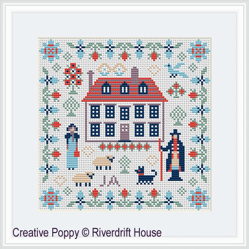 Mini Jane Austen Sampler cross stitch pattern by Riverdrift House