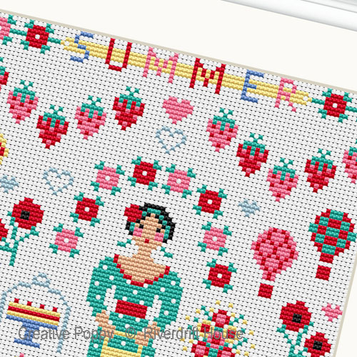 Summer Miniature cross stitch pattern by Riverdrift House, zoom 1