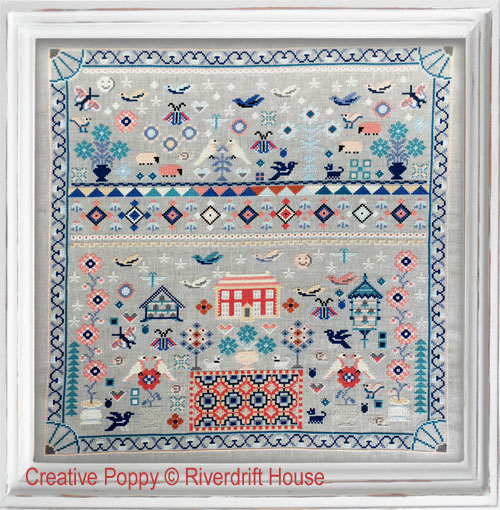 Must Fly Sampler cross stitch pattern by Riverdrift House