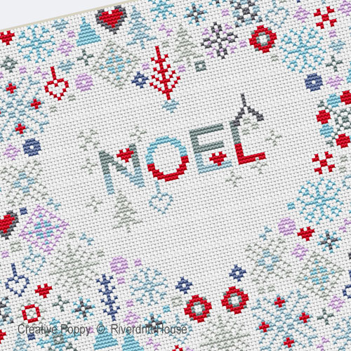 Riverdrift House - Noel Heart zoom 1 (cross stitch chart)