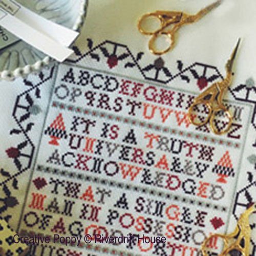 Truth (Pride and Prejudice - Jane Austen) cross stitch pattern by Riverdrift House