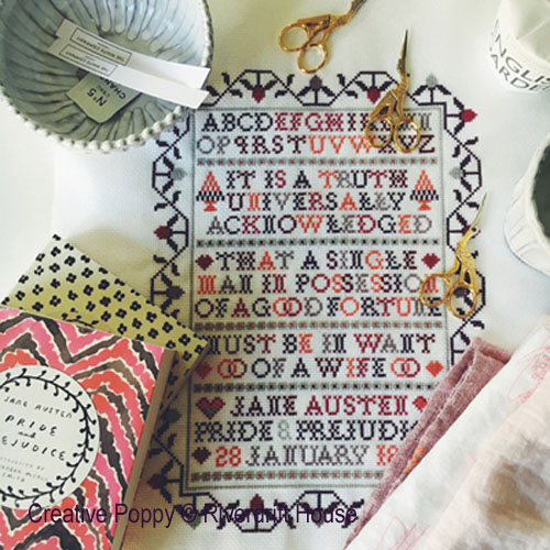 Truth (Pride adn Prejudice - Jane Austen) cross stitch pattern by Riverdrift House