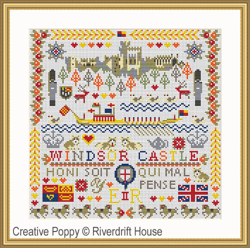 Windsor Castle cross stitch pattern by Riverdrift House