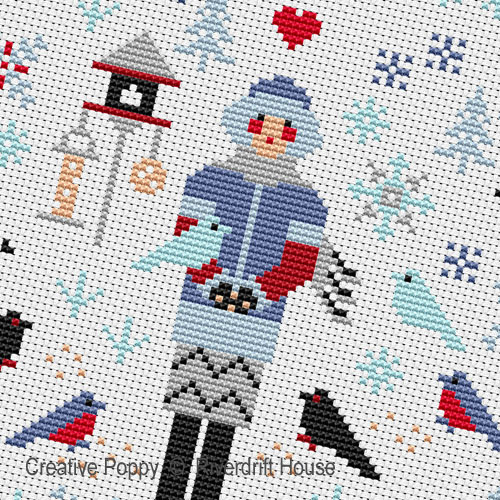 Winter Mini Sampler cross stitch pattern by Riverdrift House