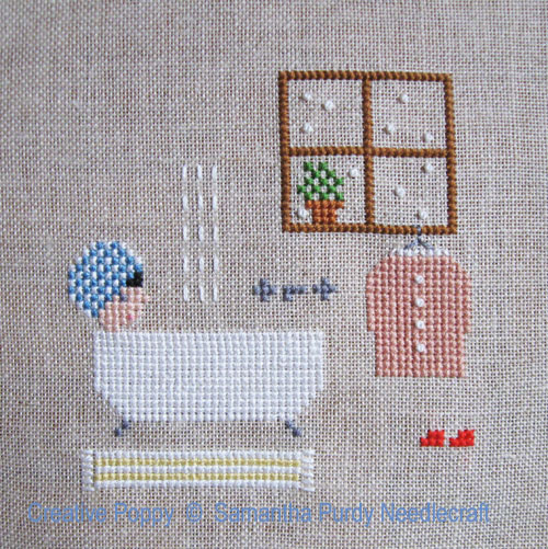 Bath Weather cross stitch pattern by Samantha Purdy Needlecrafts