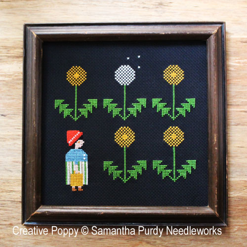 Dandelion cross stitch pattern by Samantha Purdy Needlecraft