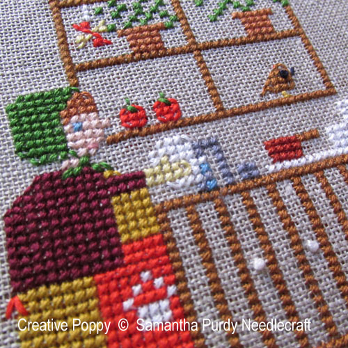 Dishwashing cross stitch pattern by Samantha Purdy Needlecrafts, zoom 1