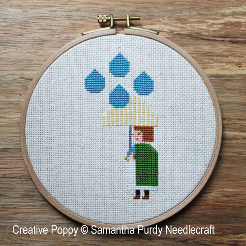 Il pleut cross stitch pattern by Samantha Purdy Needlecraft