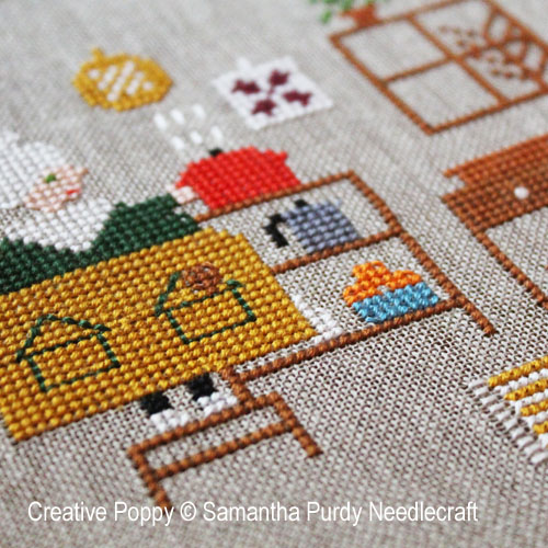Letting the stew cool cross stitch pattern by Samantha Purdy Needlecraft