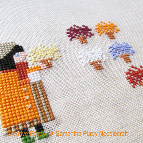 Mums cross stitch pattern by Samantha Purdy Needlecrafts