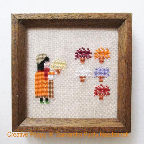 Mums cross stitch pattern by Samantha Purdy Needlecrafts