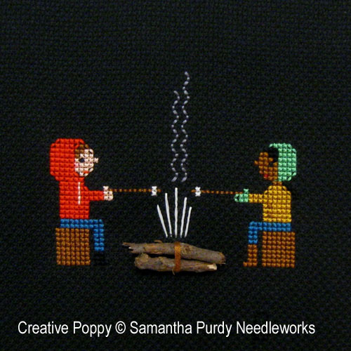 Campfire cross stitch pattern by Samanthapurdyneedlecraft, zoom 1