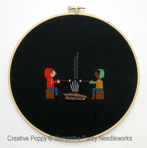 Campfire cross stitch pattern by Samanthapurdyneedlecraft