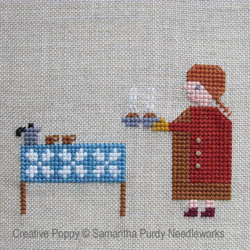 Samantha Purdy - Café et muffins (grille de broderie point de croix)