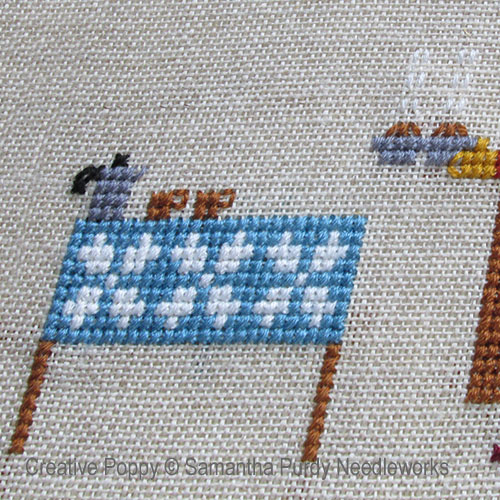 Samanthapurdyneedlecraft - Coffee & Muffins zoom 1 (cross stitch chart)