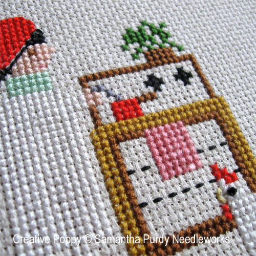 Hen in the House cross stitch pattern by Samanthapurdyneedlecraft, zoom 1