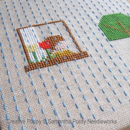 Spring Rain cross stitch pattern by Samantha Purdy, zoom 1