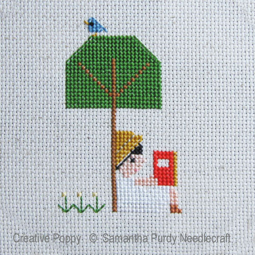 Samanthapurdyneedlecraft - Summer Reading zoom 1 (cross stitch chart)