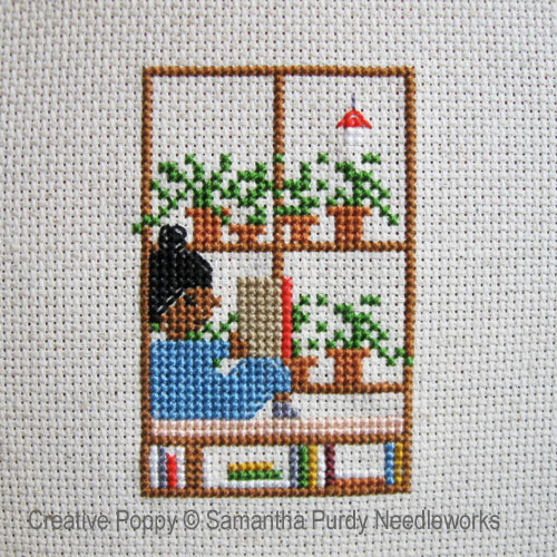 Window Seat cross stitch pattern by Samantha Purdy