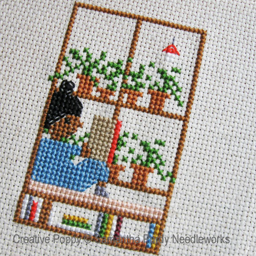 Samanthapurdyneedlecraft - Window Seat zoom 1 (cross stitch chart)