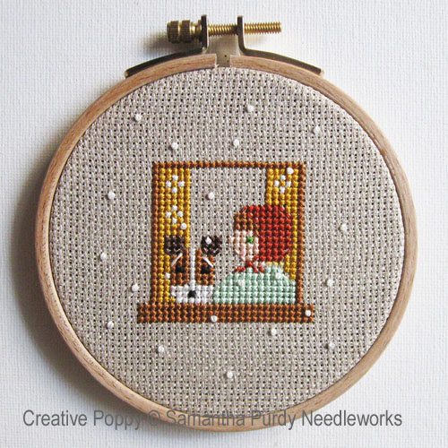 Windows cross stitch pattern by Samantha Purdy, zoom 1