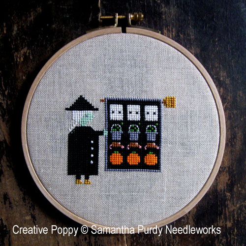 Witch's Quilt cross stitch pattern by Samantha Purdy Textiles