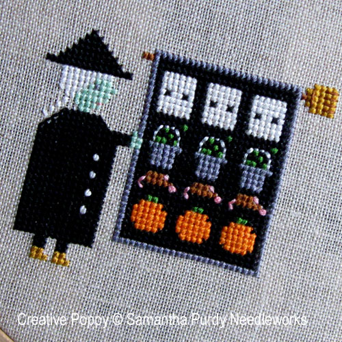 Witch's Quilt cross stitch pattern by Samantha Purdy Textiles, zoom 1