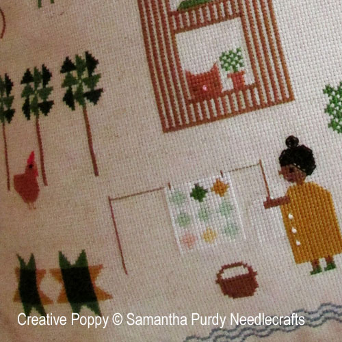 Quilt Tree Forest cross stitch pattern by SamanthaPurdyNeedlecraft, zoom 1