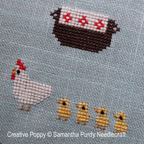 Spring cross stitch patterns designed by <b>Samantha Purdy Needlecraft</b>