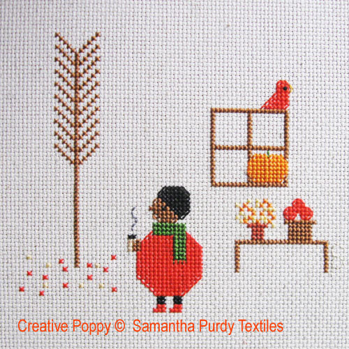 Apple Cider cross stitch pattern by Samanthapurdytextile